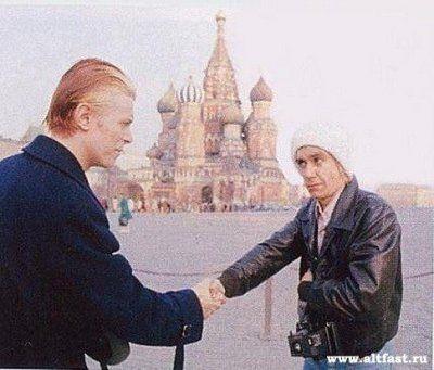 Дэвид Боуи и Игги Поп на Красной площади, 76 год