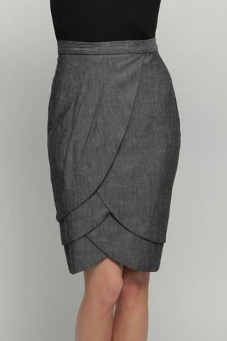 Cute pencil skirt that's a little different, and looks like it might actually…