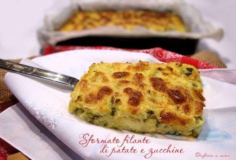 Sformato filante di patate e zucchine http://blog.giallozafferano.it/graficareincucina/sformato-filante-patate-zucchine/