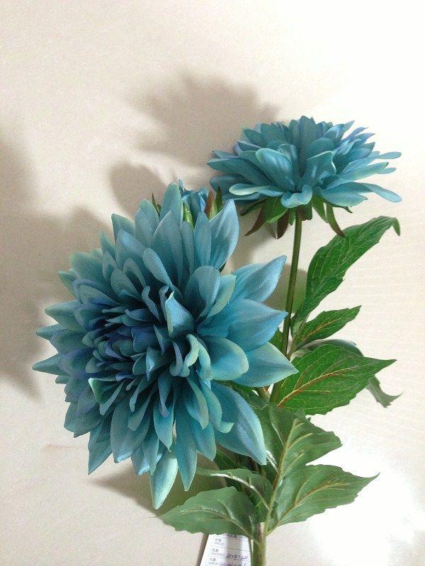 19 best artificial flowers images on pinterest art flowers turquoise silk dahlia flower 3 flower heads usd15pc mightylinksfo