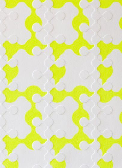 Bright Yellow Wallpaper Cool Neon Damask Elegant