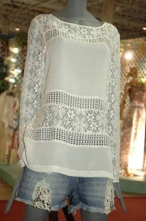 Resultado de imagen para blusas simples cambraia  ef0e9d3710