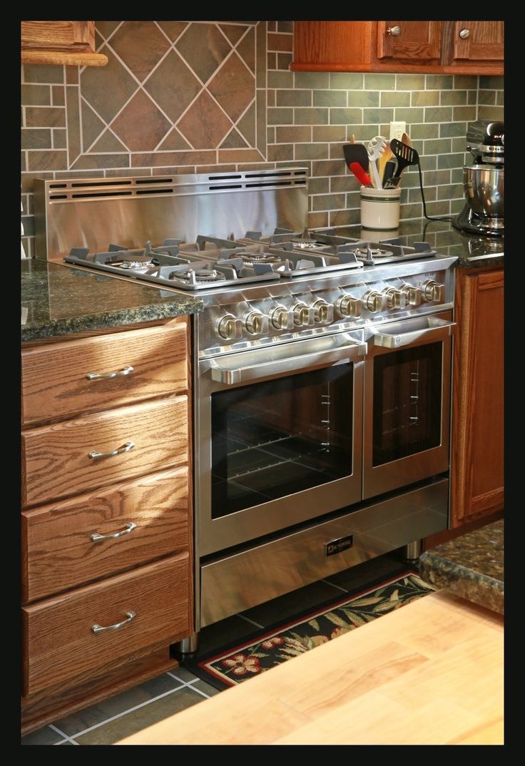 Gas Kitchen Ranges With Double Ovens Slide In Double Oven Gas