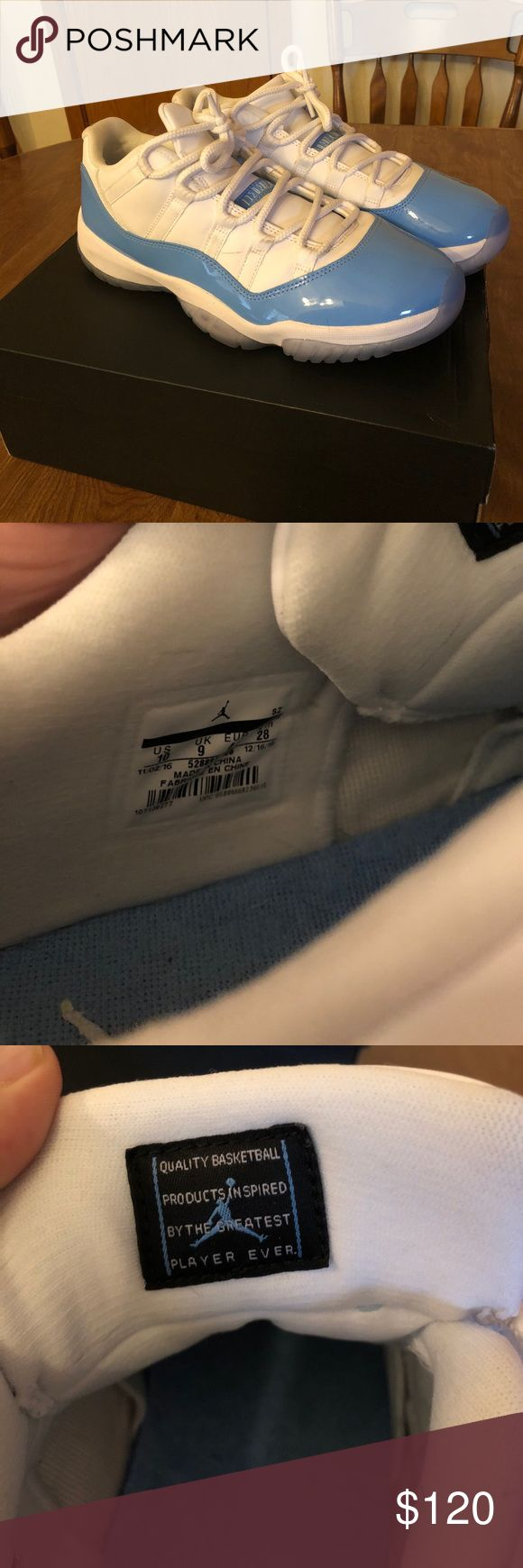 Jordan 11 UNC Low. Great shape. These are worn but in great shape still. All my shoes are 100% Authentic. Everything I sell ships within 24 hours every time. Check my stats. Thanks. Jordan Shoes Sneakers