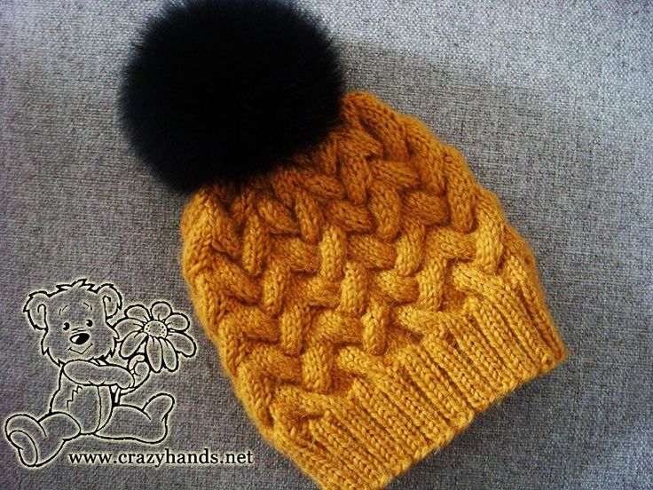 Step-by-step tutorial of knitting winter cable hat with detailed explanation and lots of high-quality pictures
