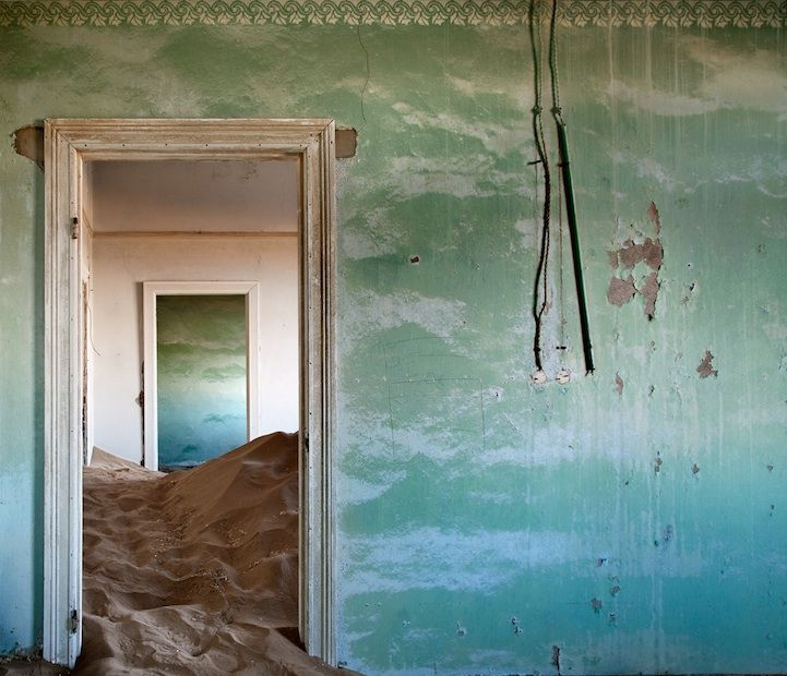 Deserted house in the Namib Desert. Click on the pic for story and more great pics from this series by Alvaro Sanchez-Montañes.
