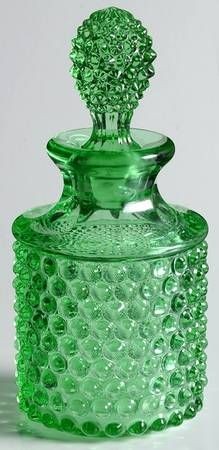 Duncan & Miller Hobnail Green Cologne Bottle with Stopper