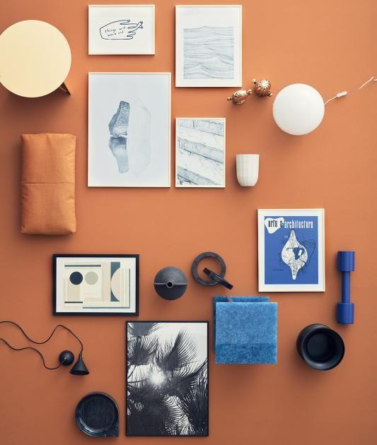 Der Letzte Schliff Beim Einrichten: Accessoires In Kühlem Blau, Weiß Und  Orange .