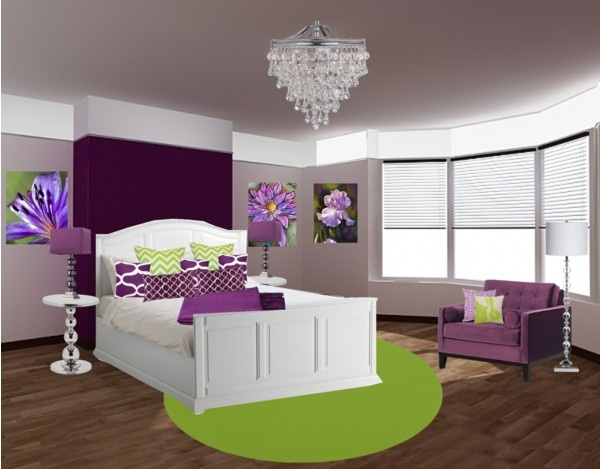 Bedroom Colors Green And Purple bedroom colors green and purple to inspiration decorating