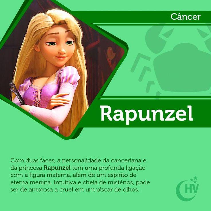Princesa de Câncer. #horóscopovirtual #princesas #signos #Rapunzel #câncer