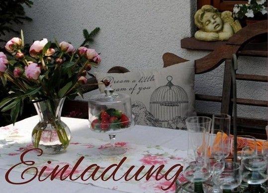 Garteneinladung per kostenloser E-Card verschicken, hier sind schöne Motive zu finden   http://www.landhausidyll-gartenkeramik.de/e-cards/
