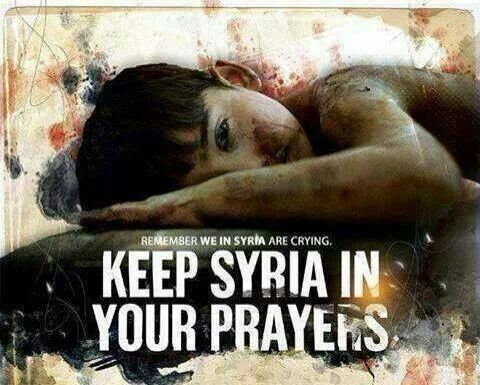 Syria. Because doing nothing or supporting adding to the violence... means the innocent die. #syria #truth