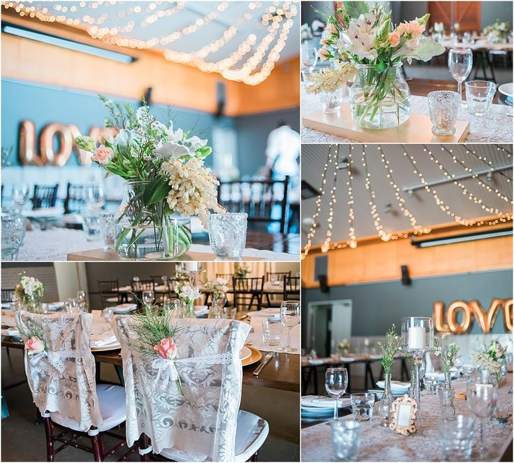 Osteria Casuarina Wedding Reception Styling #rustic #elegance #glam