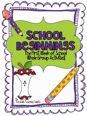 Tunstall's Teaching Tidbits First week of school ideas -- activities for second
