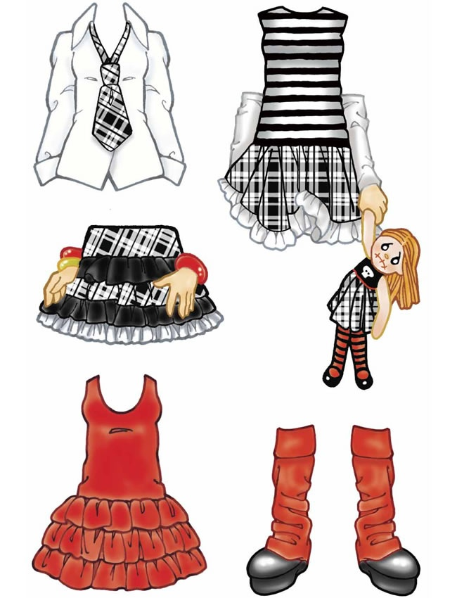 Little Goth Girl Sticker Paper Doll, Free Sample (limited Time) From Dover