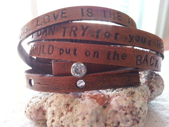 "Jack Johnson ""Better When We're Together"" lyrics bracelet on Etsy, $35.00"