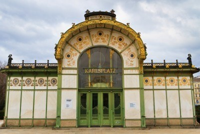 Otto Wagner - Wienin rautatieasemie - (Karlsplaz jne. )