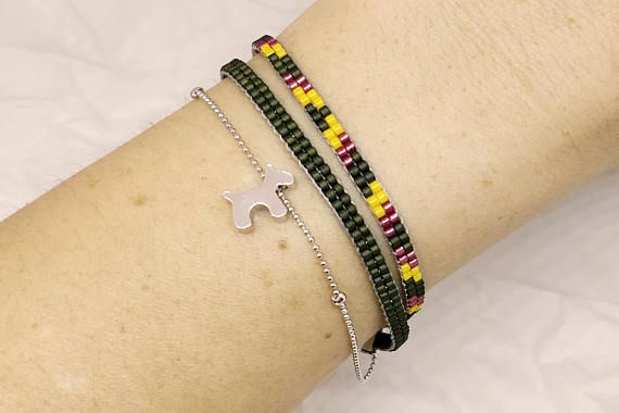 Bracelet with dog/star/heart pendant Jewelry for dog lovers
