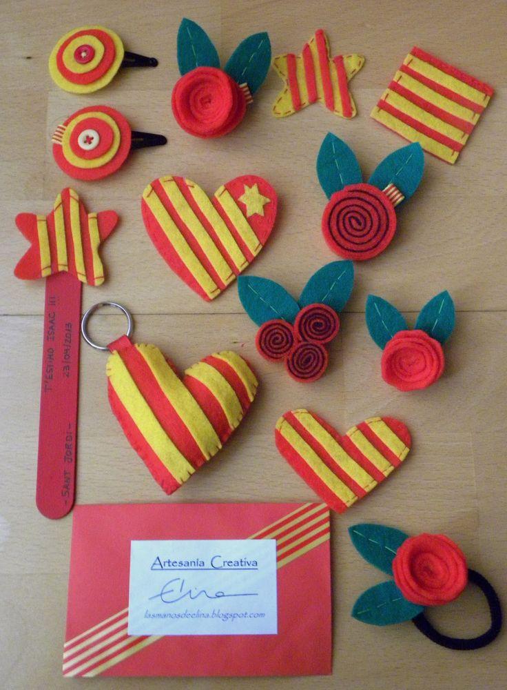 Decoraciones de Sant Jordi.