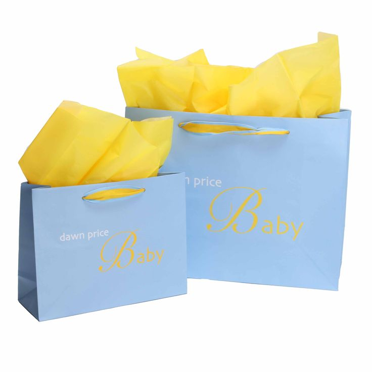 Package Design- Commercial- Custom Retail Packaging- Paper Bags for Dawn Price Baby with Custom Woven Handles