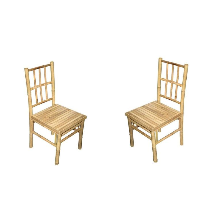 Wood Chairs Set 2 Kitchen Dinning Room Breakfast Dinette Outdoor Bamboo Seats  Product Description:   Wood Dinning Room Kitchen Type: Chairs Use: Seating Style: Tropical. Breakfast Dinette Bamboo Seats Set 2  Beautiful Handmade Real Bamboo wood features: sturdy indoor home / outdoor screened in patio. Delightful for any room. Each unique. Long lasting Quality workmanship.  Demonstrate your concern for the planet when you use these dining chairs made from environmentally friendly bamboo.