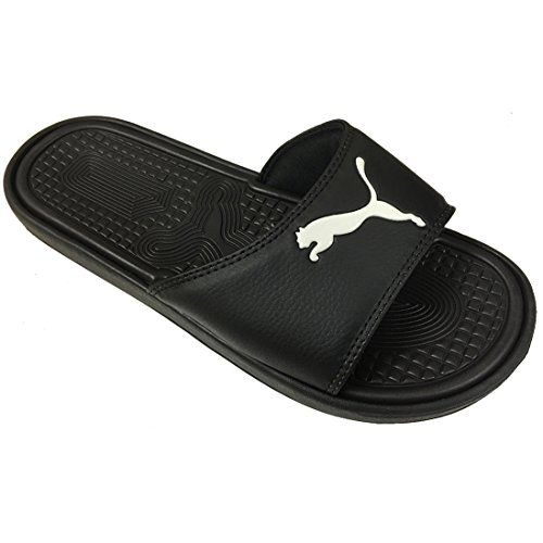 Puma Womens Sport Slides Sandals Flip Flop Thongs Black US 9 >>> More info could be found at the image url.