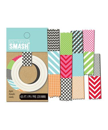 I love these tapes for scrapbooking!  So much easier to use than traditional ribbon!    Take a look at this Swatch SMASH Tape - Set of Three by K SMASH on #zulily today!