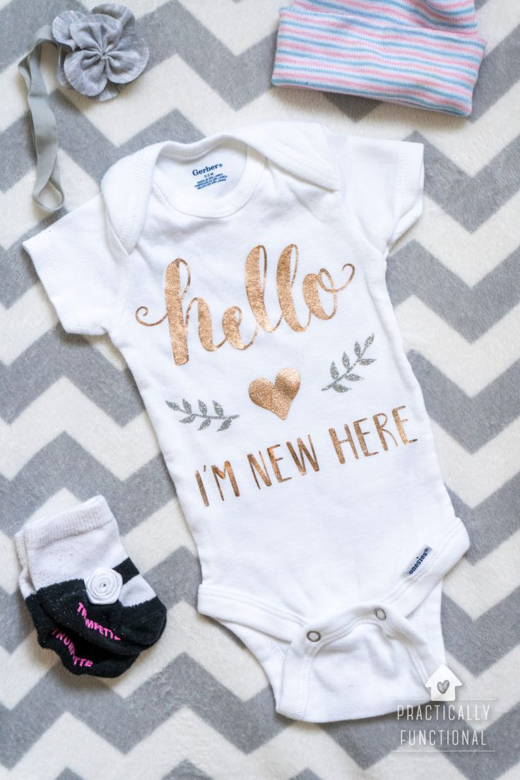 custom length name personalized weight birth Baby announcement onesie arrived stats ounces
