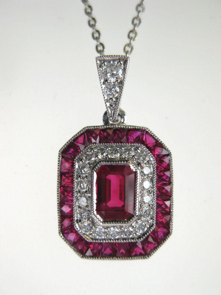 281 best ohio state buckeyes jewelry images on pinterest ohio ruby diamond art deco block o pendant aloadofball Choice Image