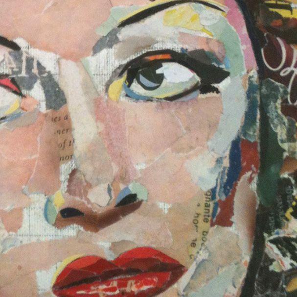 IN PROGRESS... new portrait soon... (25 x 25 cm / 9,8 x 9,8 inches) Collage Art by Philippe Patricio 2015