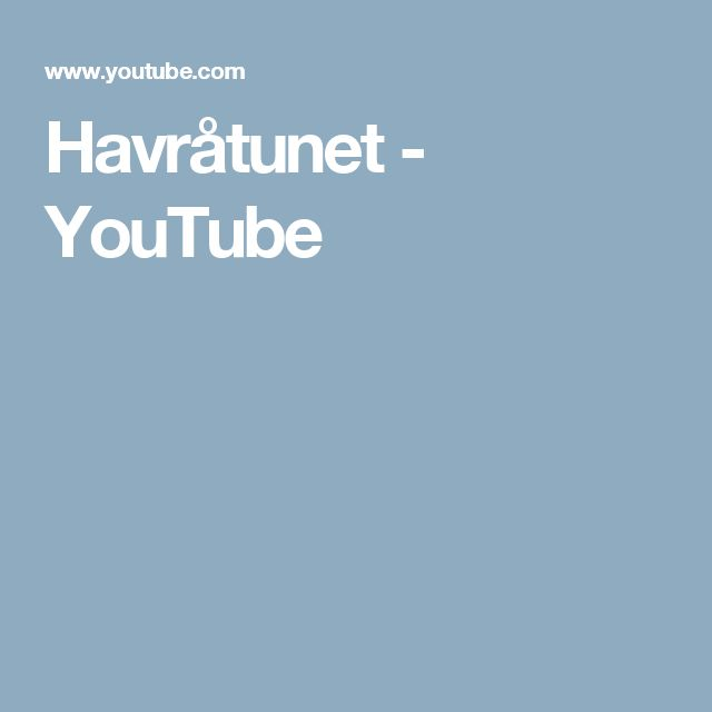 Havråtunet - YouTube