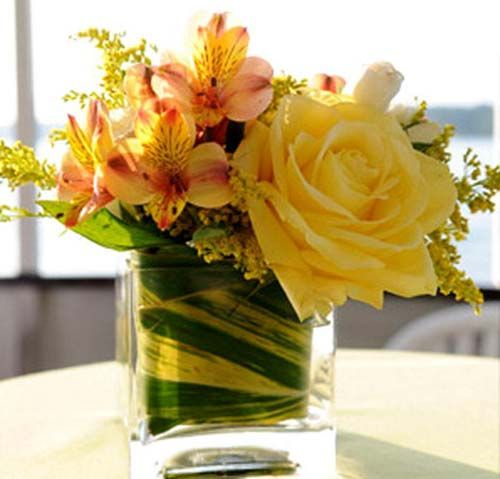 25 best ideas about yellow flower centerpieces on - Red and yellow centerpieces ...