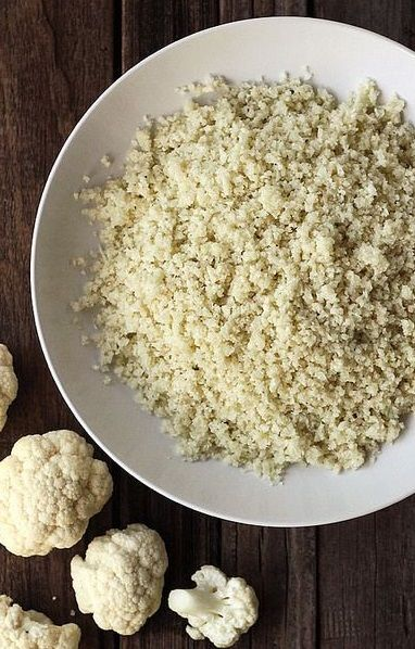 CAULIFLOWER RICE PRIMER ~~~ the 411 on making cauliflower rice and its many varieties (spanish, curry, fried, italian, greek, sweet lemon, suchi, herbed, cheezy) can be found at this post's link AND http://nutritionstripped.com/simply-cauliflower-rice/#.UxRLqvldXh4 [101] [tasty-yummies] [nutritionstripped]