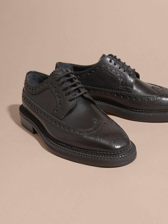 Chaussures Richelieu en cuir avec bout golf | Burberry