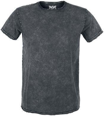 """T-shirt van R.E.D. by EMP: - gewassen uiterlijk, vintage-stijl - ronde halslijn - korte mouwen Om ervoor te zorgen dat je niet de hele tijd in dezelfde kleding hoeft rond te lopen, maakt Black Premium by EMP steeds weer nieuwe kledingstukken voor in je garderobe. Met het antracietkleurige """"Lava-Dye Shirt"""", heb je er weer een aantrekkelijk basic shirt voor heren bij. Het shirt heeft een vintage-stijl en valt perfect te combineren met jeans en een bikerjack, of met een zwarte broek ..."""