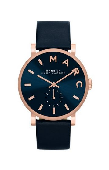 Navy and Rose Gold Watch