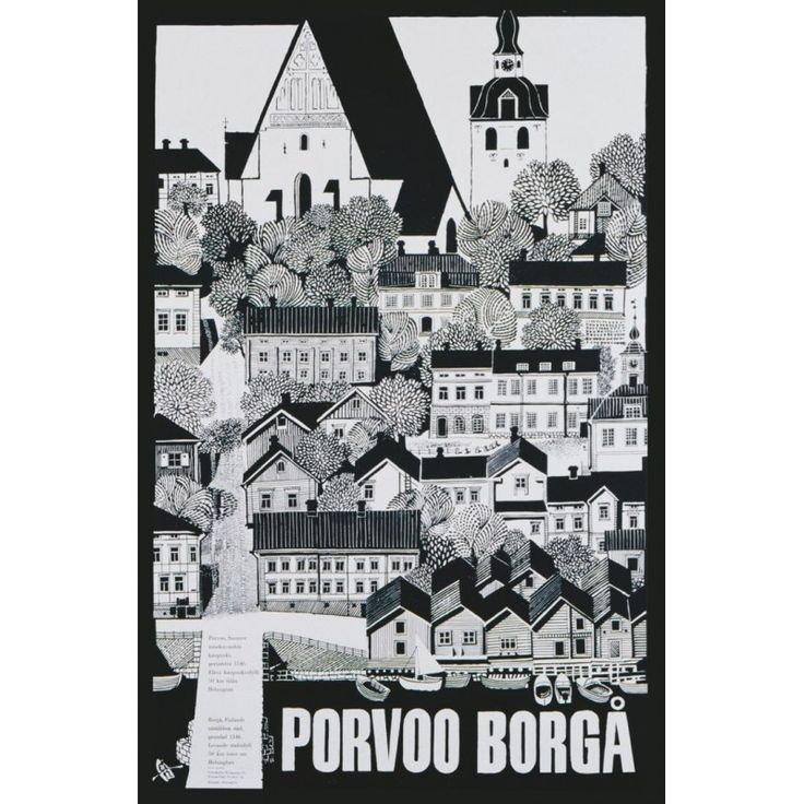 Erik Bruun: Porvoo-Borgå / Poster On Demand / 50 x 70 cm
