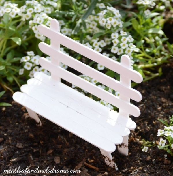 DIY-fairy-garden-popsicle-stick-bench by melinda