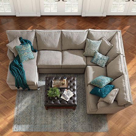 Dune 139 Three Piece Upholstered Right Sectional In Driscoll Marble