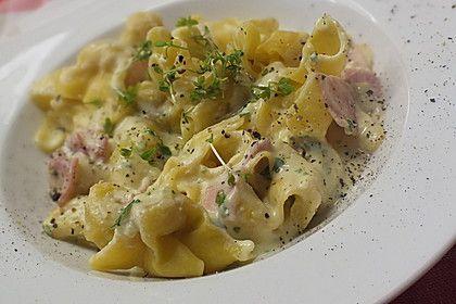 Tortellini in Schinken - Käse - Sahne - Sauce (Rezept mit Bild) | Chefkoch.de