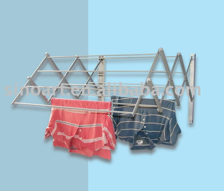 1000 images about wall mounted clothes drying rack on. Black Bedroom Furniture Sets. Home Design Ideas