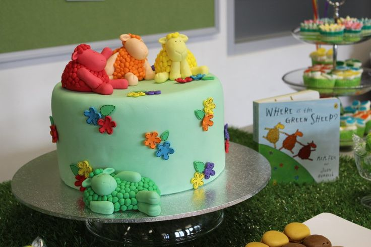 'Where is the Green Sheep?' birthday cake