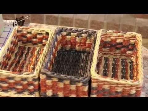 Как выдержать ровные углы при плетении из газетных трубочек - YouTube
