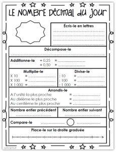 CM • Mathématiques • Rituel - Le nombre du jour (numération) ~