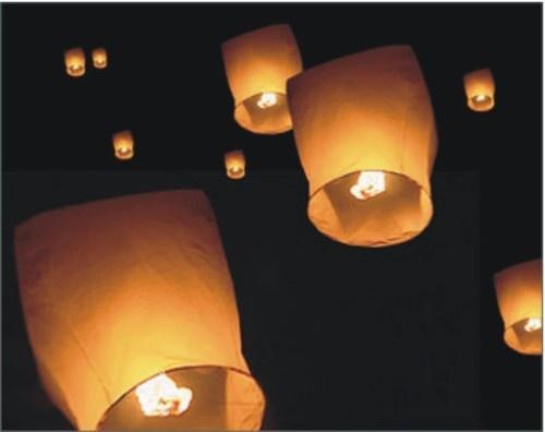 100 White Fire Sky Chinese Lanterns Birthday Wedding Christmas Party Fly Balloon