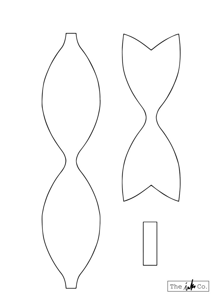 The Ink Co Patr 243 N Lazo Bow Pattern Bow Template Bow
