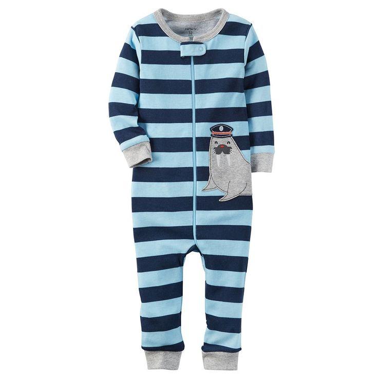 Toddler Boy Carter's Striped One-Piece Pajamas, Size: 3T, Ovrfl Oth