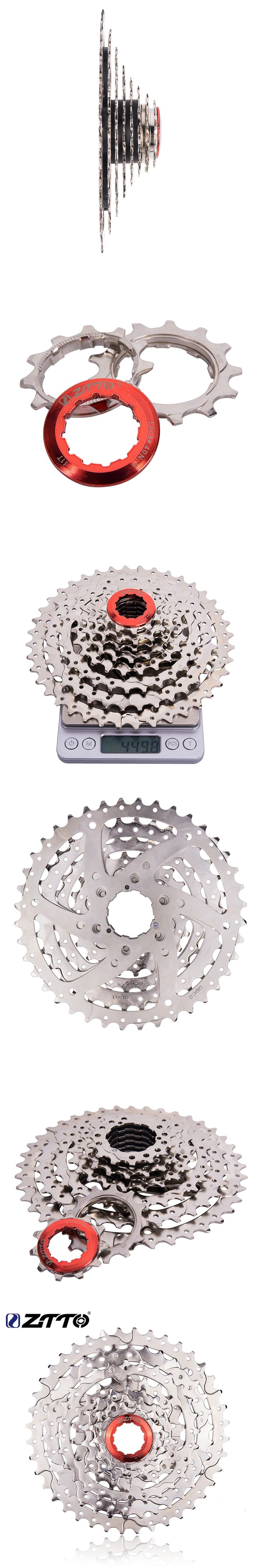 ZTTO MTB Bike 8 Speed Sprockets Freewheel 8s 24s Velo 11-40T Wide Ratio Steel Cassette For Shimano ALIVIO Sram X4 Bicycle Parts