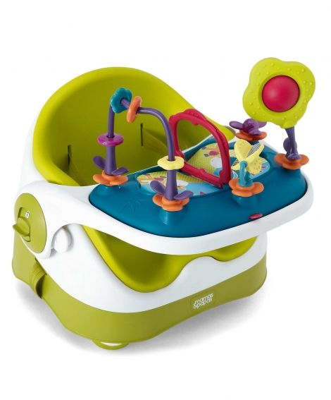 This might be a good alternative to a bulky high chair in our small house! Baby Bud Booster Seat & Activity Tray - Lime