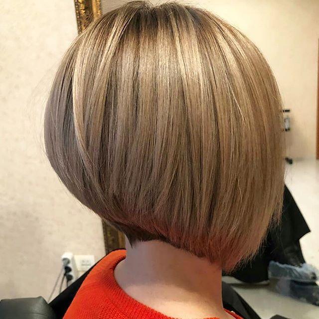 43 Neue Moderne Bob Frisuren Gestuft In 2020 Bob Frisur Invertierte Bob Frisuren Frisuren Kurze Haare Bob